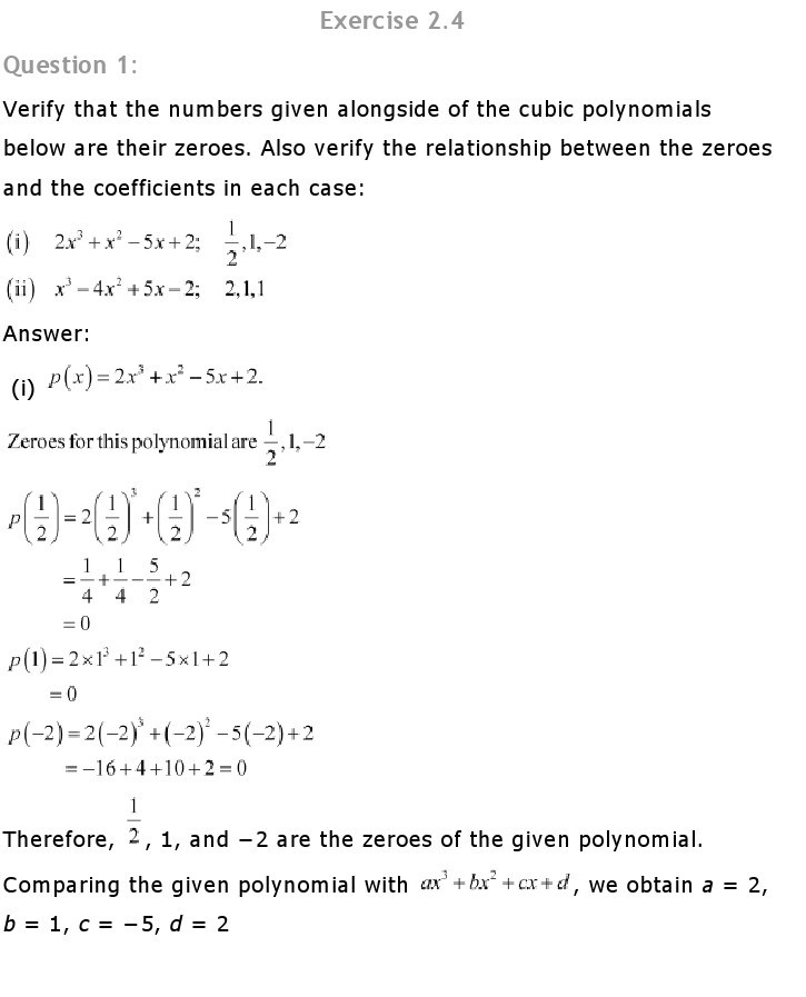 NCERT Solutions for Class 10th Maths Chapter1 1