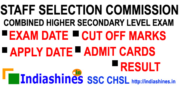 SSC CHSL News, SSC CHSL Result, SSC CHSL Apply, SSC CHSL Cut Off Marks, SSC CHSL Apply