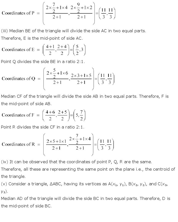 NCERT Solutions For Class 10th Maths Chapter 7 : Coordinate Geometry