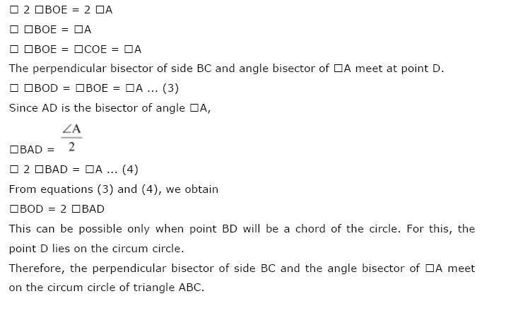 NCERT Solutions For Class 9th Maths Chapter 10 : Circles