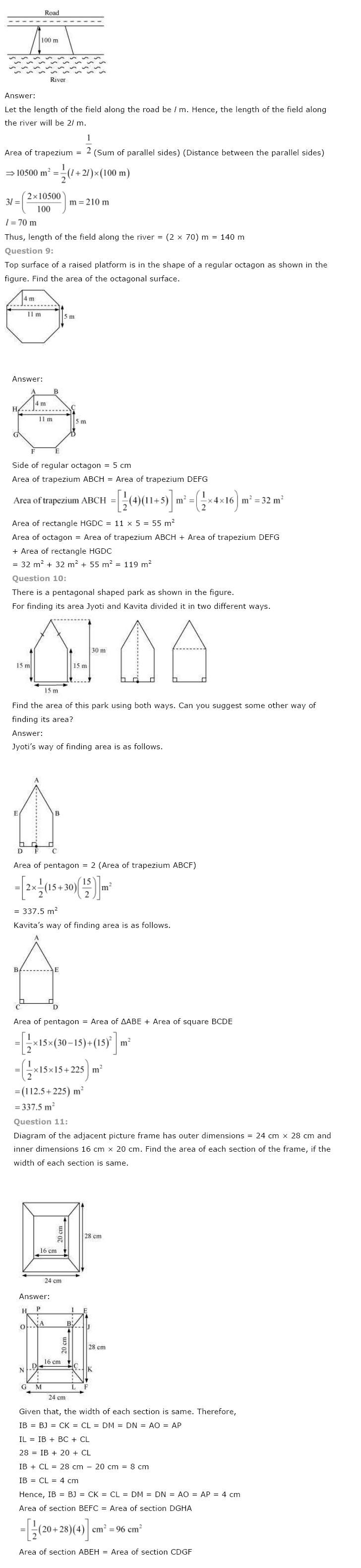Class 8 NCERT Maths Solutions chapter 11 Mensuration 3