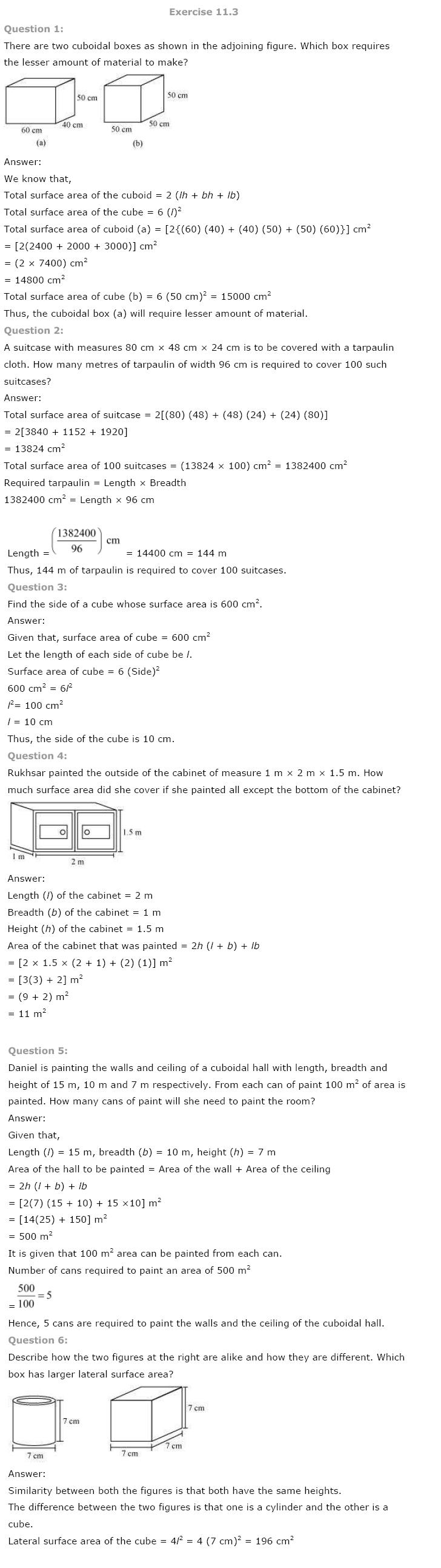 Class 8 NCERT Maths Solutions chapter 11 Mensuration 4