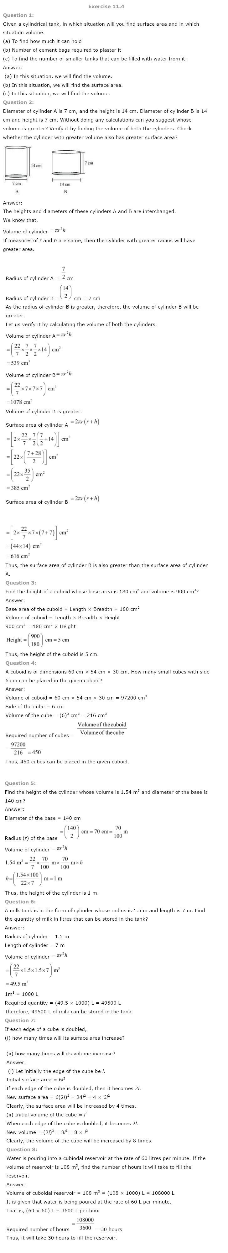 Class 8 NCERT Maths Solutions chapter 11 Mensuration 5