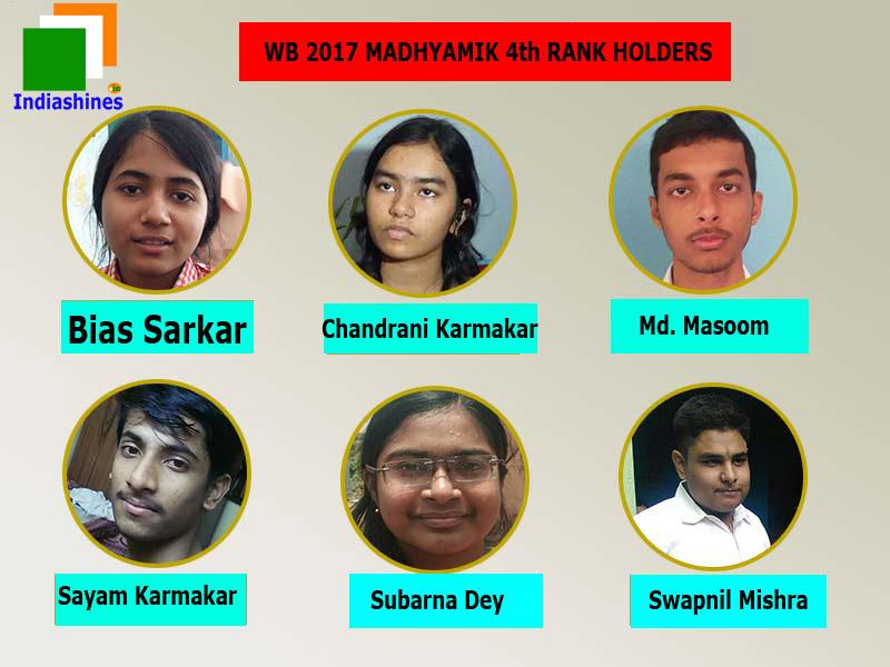 West Bengal Class 10 Madhyamik 2017 4th rank place - Chandrani Karmakar, Kamakhyaguri