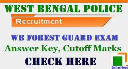 West Bengal Police Forest Guard Answer Key 2017
